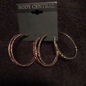 Body Central Gold & Silver hoop earrings